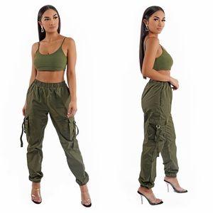 Olive Jogger Pants Set